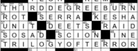 LA Times Crossword Answers Monday September 21st 2020