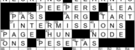 LA Times Crossword Answers Thursday September 10th 2020