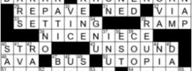 LA Times Crossword Answers Thursday September 17th 2020
