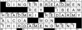 LA Times Crossword Answers Thursday November 26th 2020