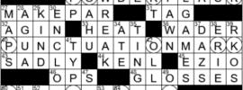 LA Times Crossword Answers Monday January 18th 2021