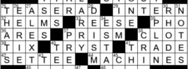 LA Times Crossword Answers Saturday January 9th 2021