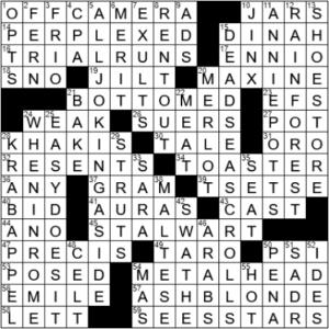LA Times Crossword Answers Saturday March 27th 2021