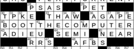 LA Times Crossword Answers Monday April 26th 2021