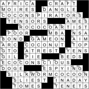 LA Times Crossword Answers Thursday April 8th 2021