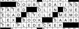 LA Times Crossword Answers Monday June 7th 2021