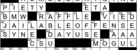 LA Times Crossword Answers Thursday June 17th 2021