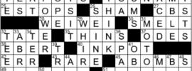 LA Times Crossword Answers Saturday July 17th 2021