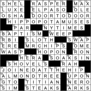 LA Times Crossword Answers Thursday September 23rd 2021