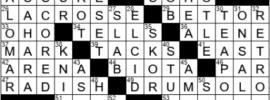 LA Times Crossword Answers Thursday September 9th 2021