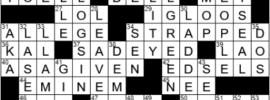LA Times Crossword Answers Saturday October 9th 2021