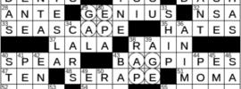 LA Times Crossword Answers Thursday October 21st 2021